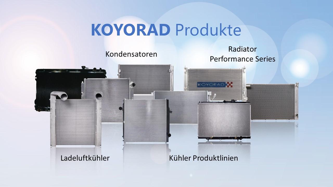 Ab sofort bestellbar: Kühler- und Klimasortiment von KOYORAD!