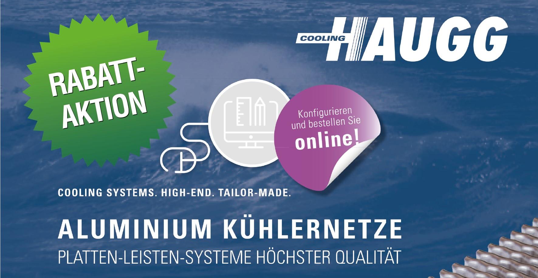 Günstigere Frachten und Rabattaktion für Alu-Platten-Leisten Kühlernetze